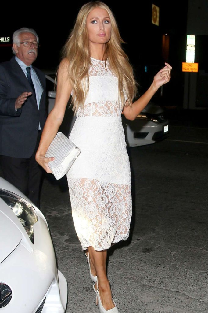 Paris Hilton Stuns in All White at Mr. Nice Guy