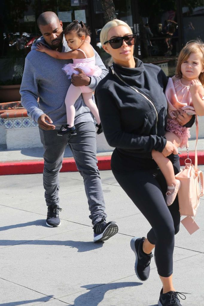 Kim Kardashian in Yoga Pants Out in Calabasas