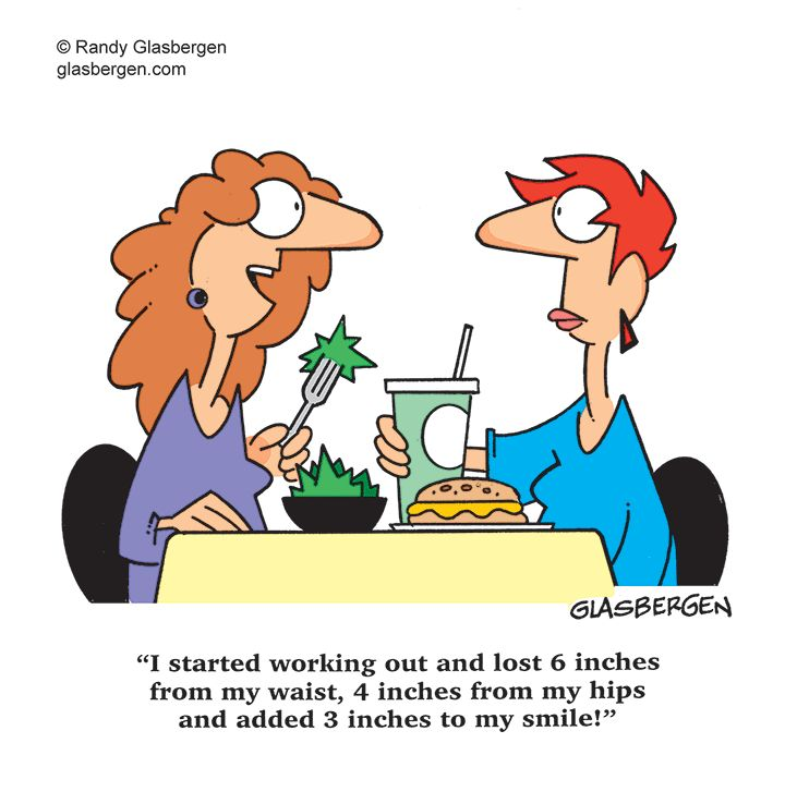 Cartoons Showing Weight Loss Problems