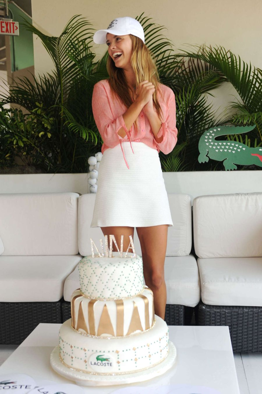 Nina Agdal Celebrates Her Birthday at Lacoste Suite