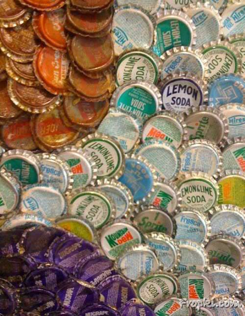 Amazing Bottle Cap Portrait