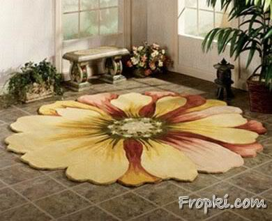 Floors Designed with Painted Flowers