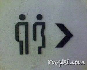 Funny Signs Outside Doors of various Toilets