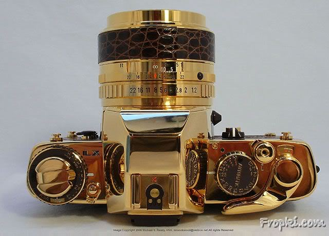 Gold Made Pentax Camera